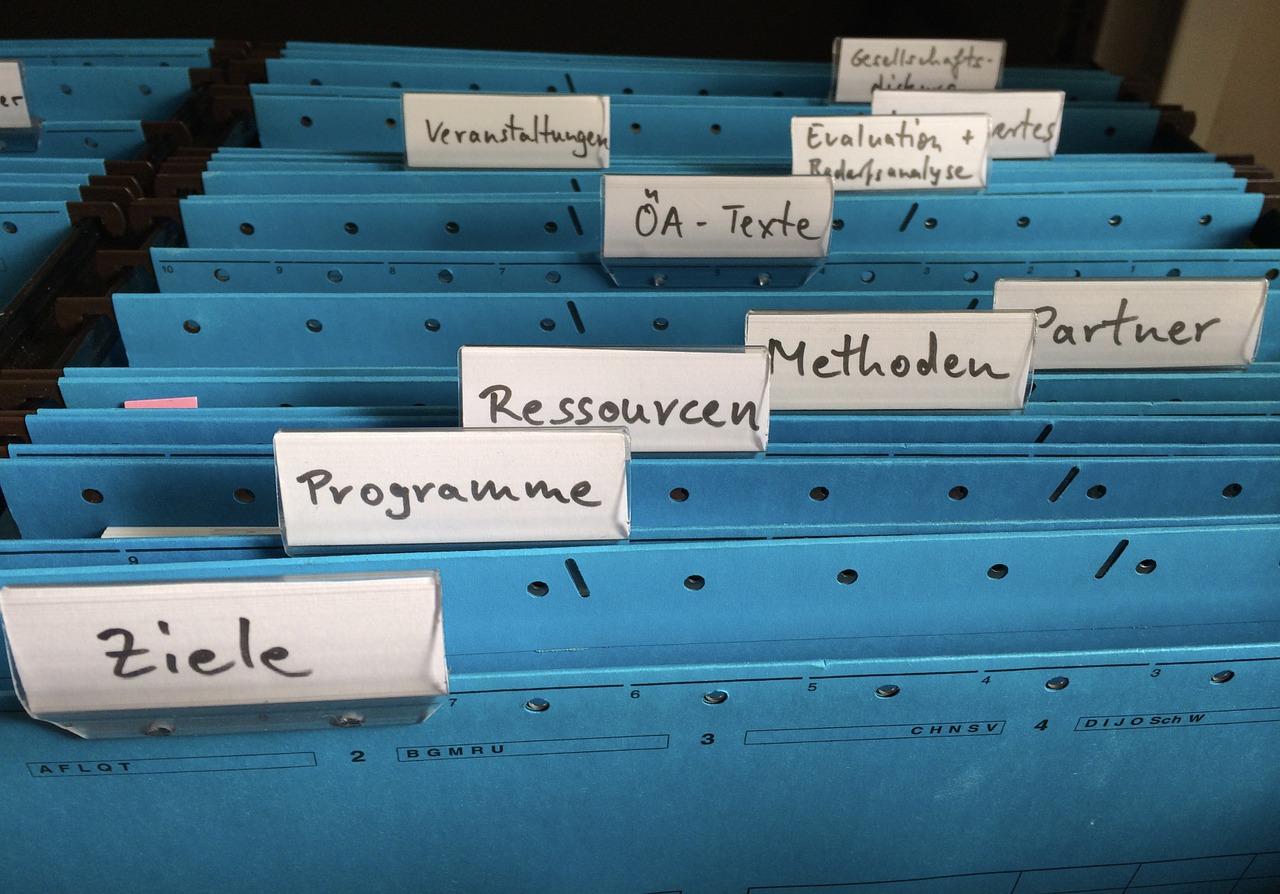Dossiers classés en entreprise